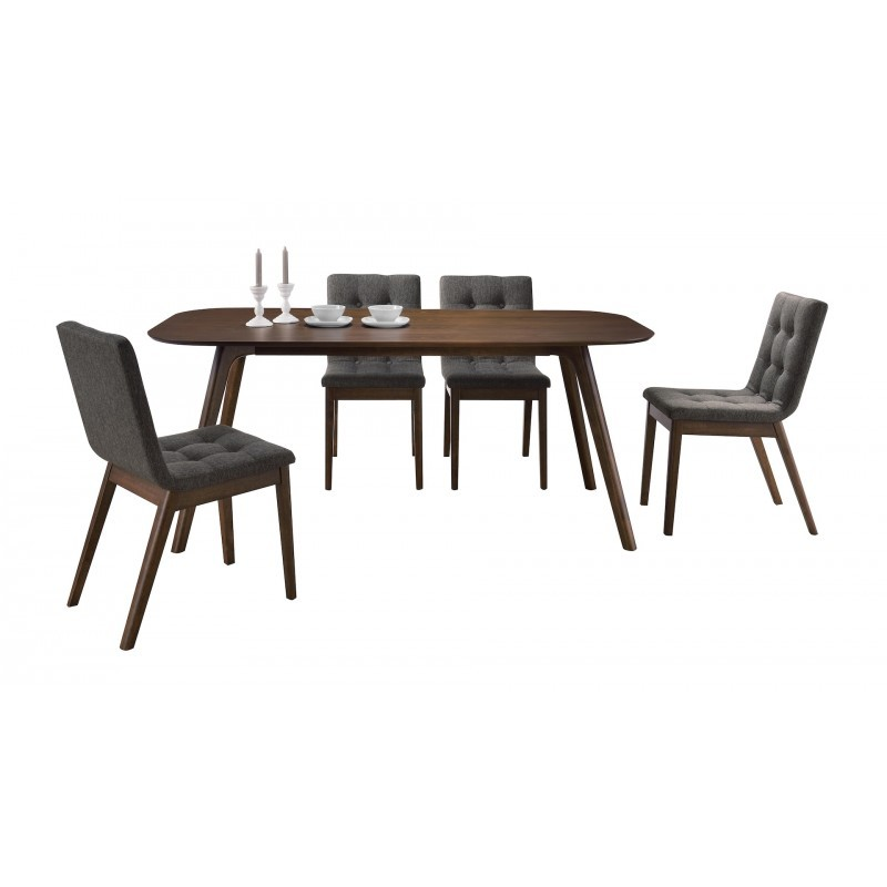 Table à manger design CORENTINE en bois (180cmX90X75cm) (noyer) - image 30667
