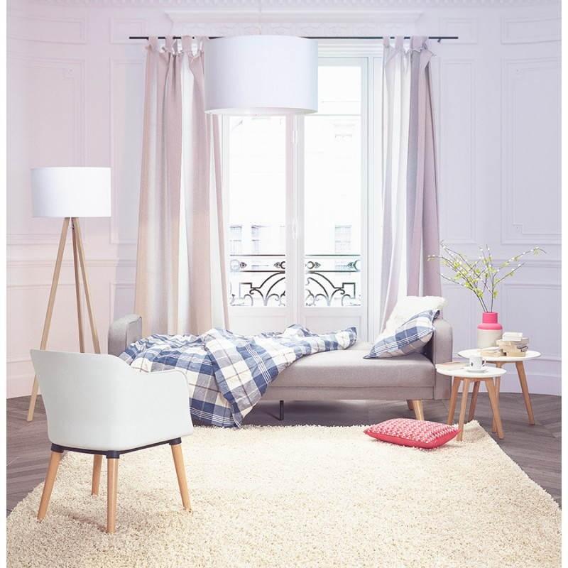 Fauteuil MAXIME en textile style scandinave (gris foncé) - image 30672