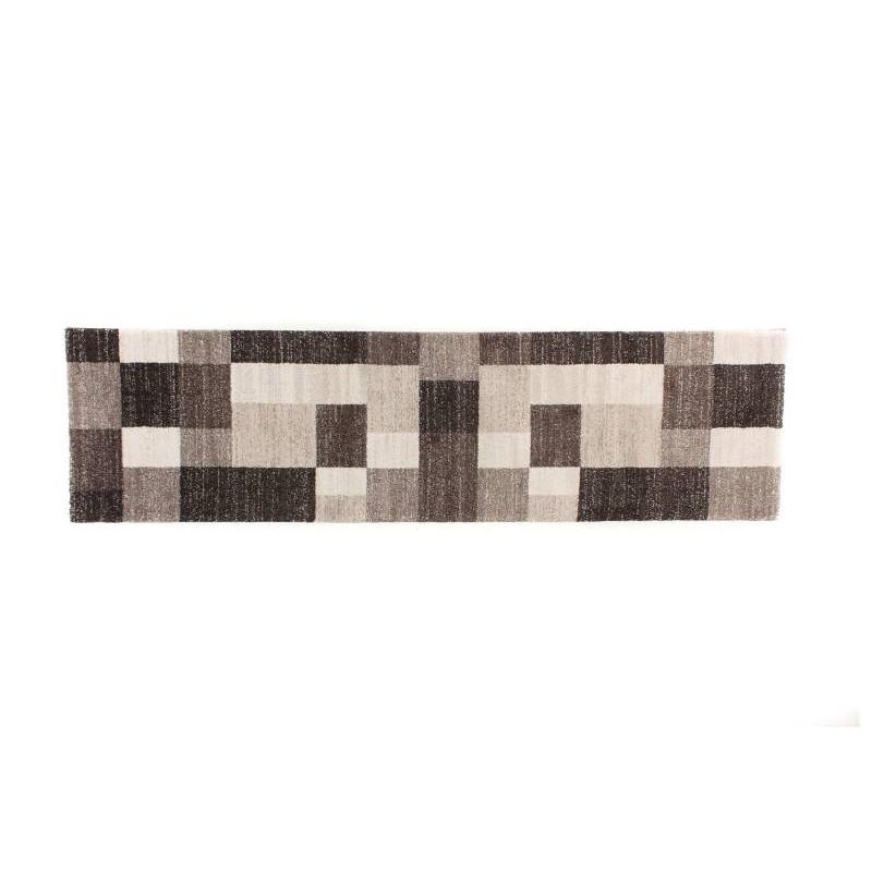 alfombra 80 x 300 cm corredor moderno moderno moda gabeh marr n oscuro claro beige. Black Bedroom Furniture Sets. Home Design Ideas