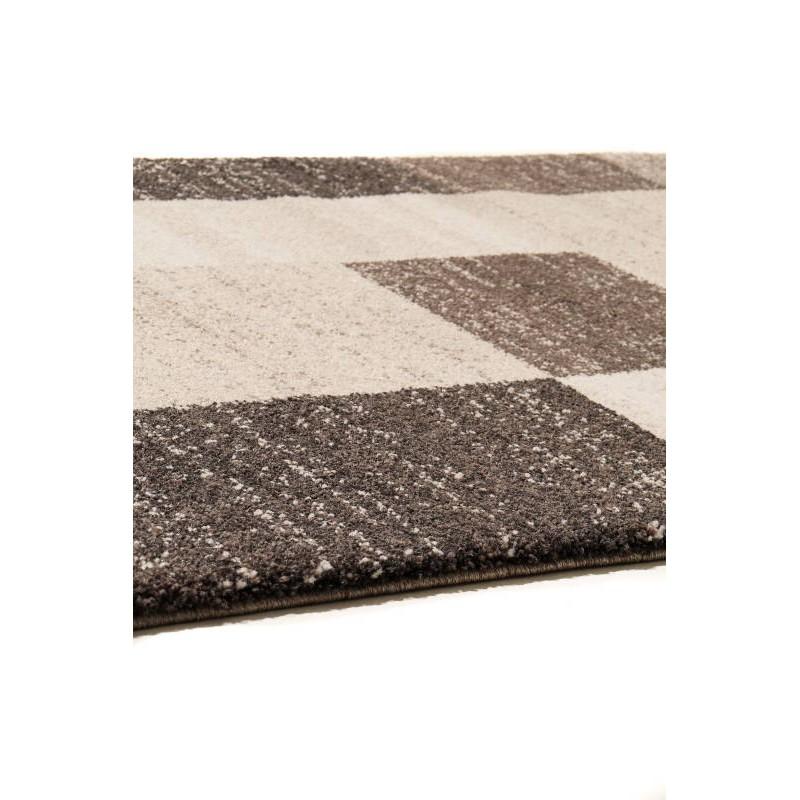 tapis de couloir moderne 80x300 cm modern fashion gabeh brun fonce beige clair. Black Bedroom Furniture Sets. Home Design Ideas