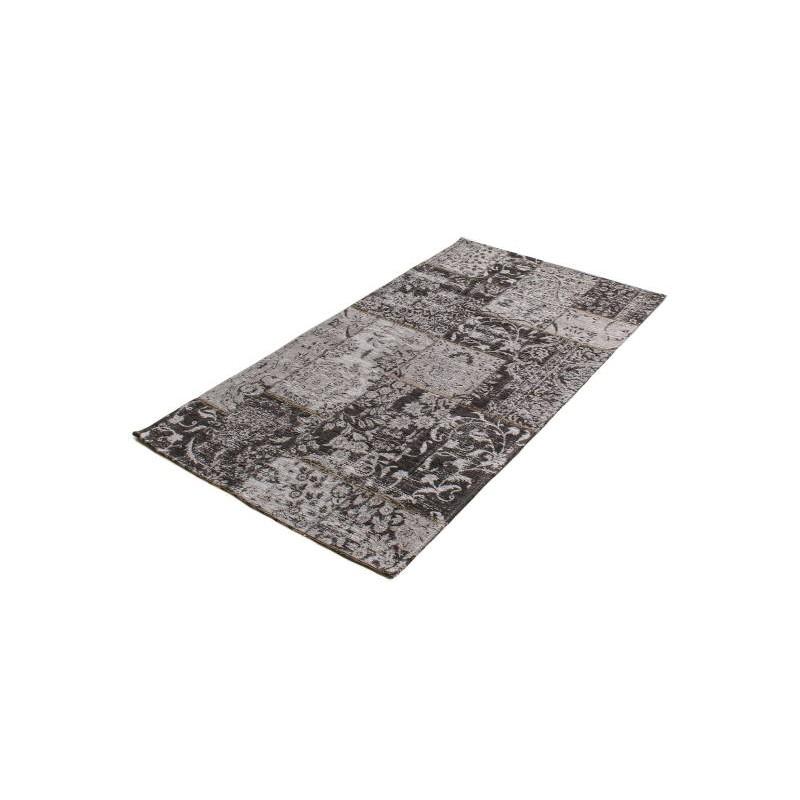 Wohnzimmer Teppich Modern Verwaschen Farben 90 X 150 Cm BERLIN (dunkelgrau    Schwarz)