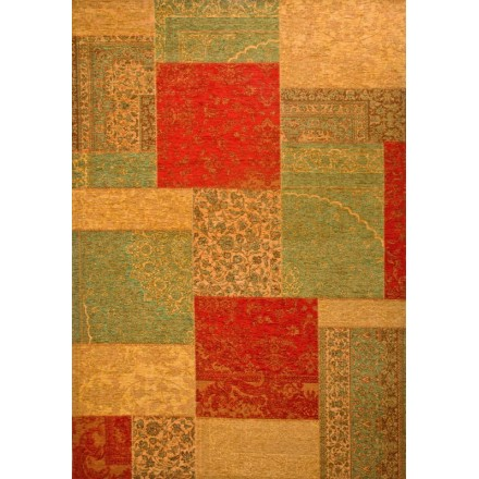 Green Living Berlin room rug modern washed out colors 130 x 190 cm berlin yellow green