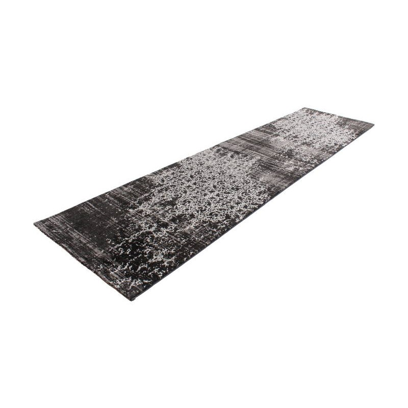 Tapis de couloir color 80x300 cm modern fashion leo noir for Tapis de couloir moderne design