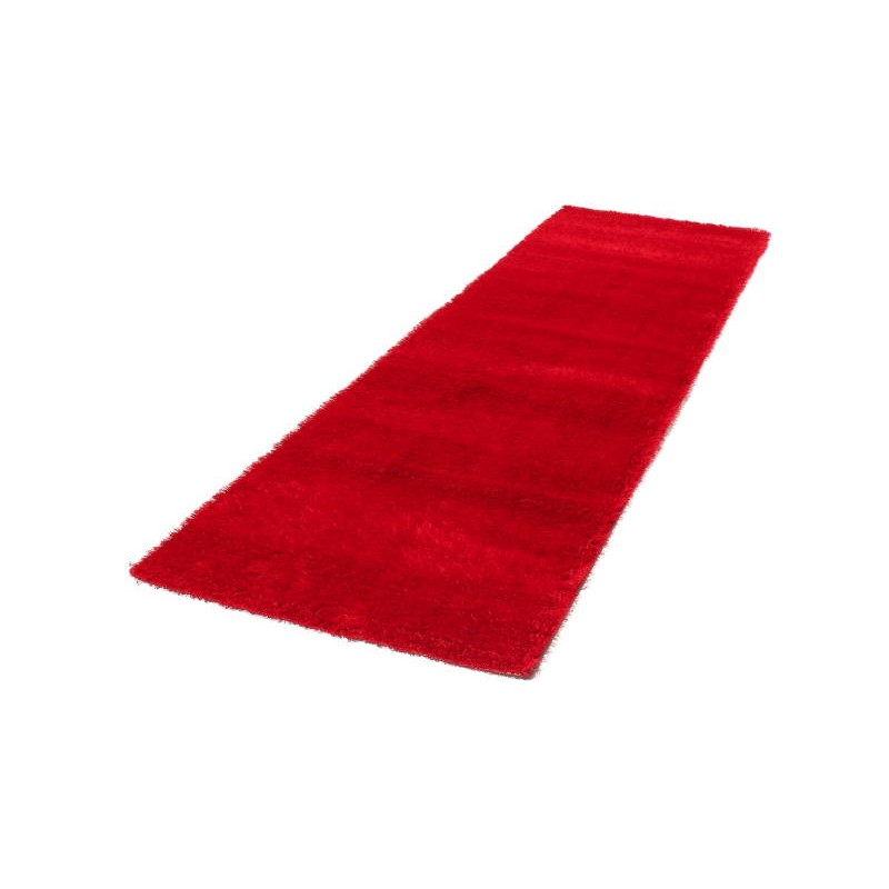 tapis de couloir shaggy doux 80x300 cm shaggy moon rouge. Black Bedroom Furniture Sets. Home Design Ideas