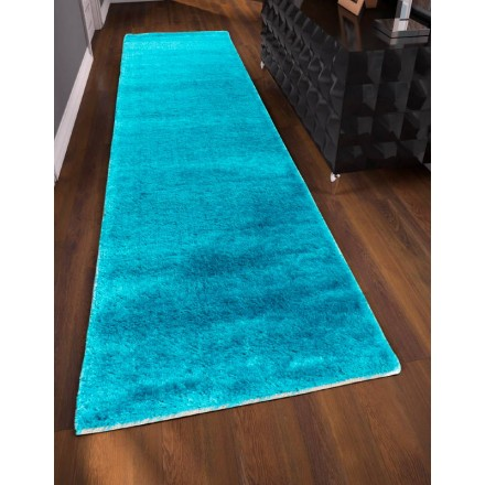 Carpet corridor shaggy soft 80 x 300 cm shaggy moon for Couloir turquoise