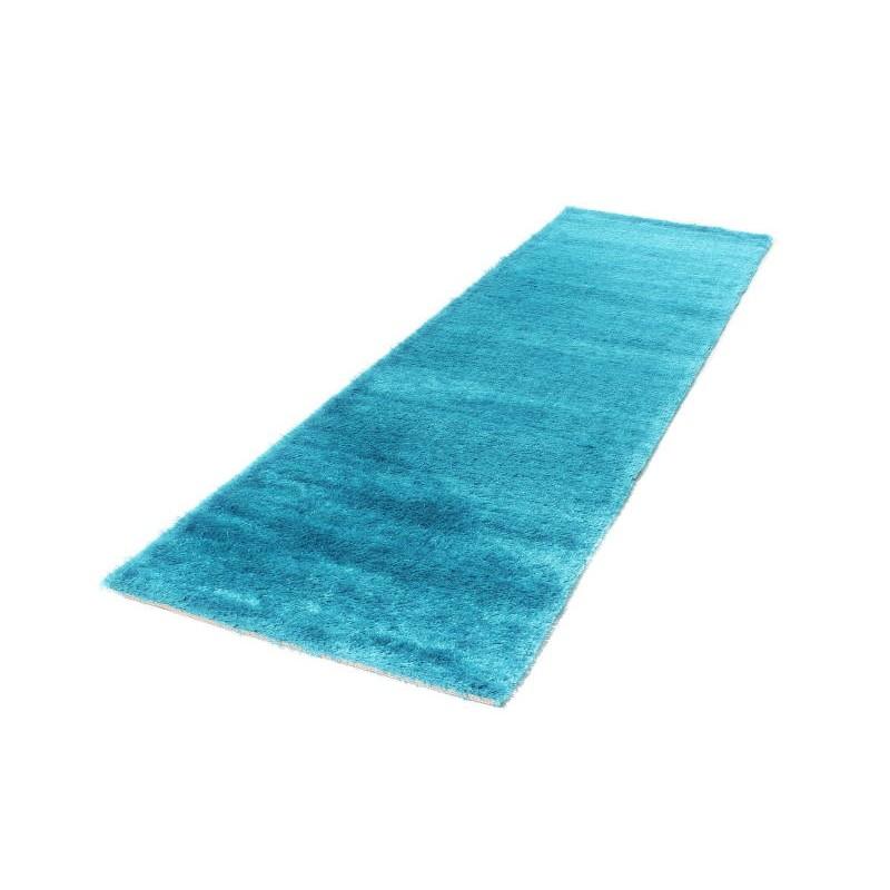 tapis de couloir shaggy doux 80x300 cm shaggy moon turquoise. Black Bedroom Furniture Sets. Home Design Ideas