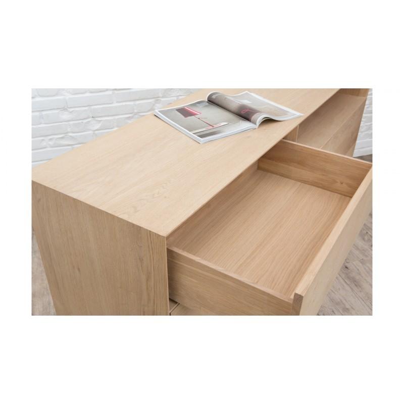 Buffet 3 portes, 1 tiroir, 1 niche design BRIEG en chêne massif 100% (Chêne brut naturel) - image 36038