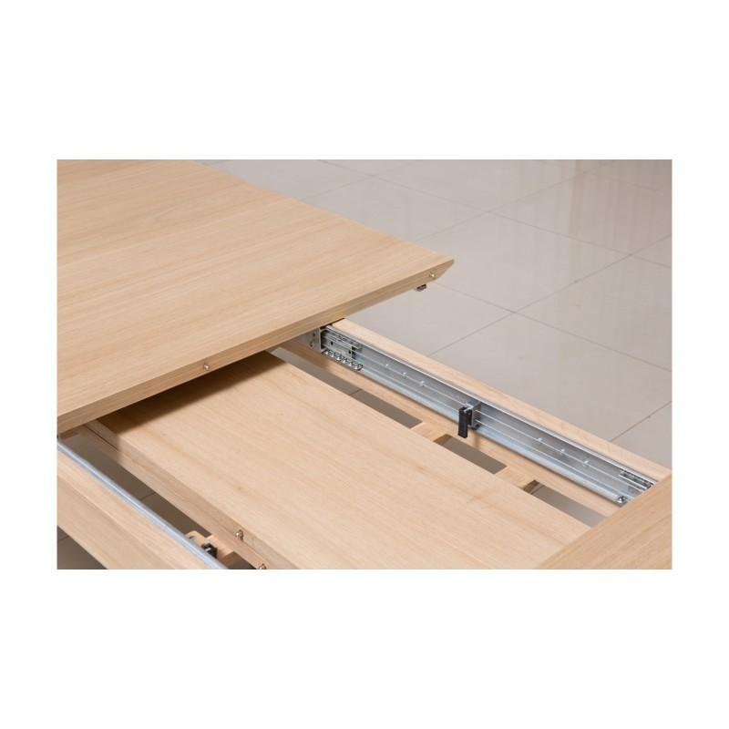 Table à manger extensible design (180/232x90x76cm) BRIEG en chêne massif 100% (Chêne brut naturel) - image 36043