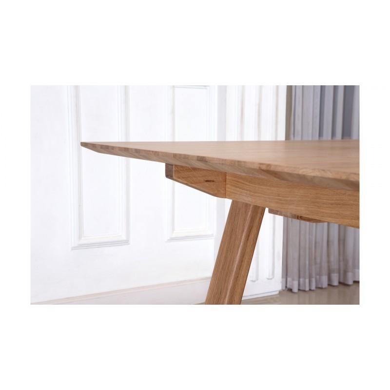 Table à manger extensible design (180/232x90x76cm) BRIEG en chêne massif 100% (Chêne brut naturel) - image 36044