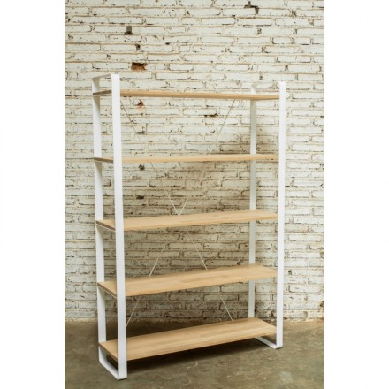 Shelf design NUCE bookcase solid oak (natural oak)
