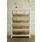 Shelf design NUCE bookcase solid oak (natural oak)
