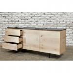 A buffet design fila bassa 2 porte 3 cassetti ADRIA massello di rovere (rovere naturale)