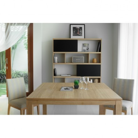 Table expandable AIMEE solid oak (natural oak) (140/190x140cmx76cm))