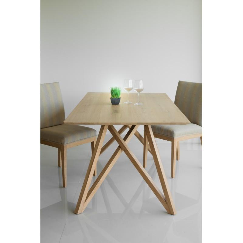 tavolo da pranzo design rovere massello levana