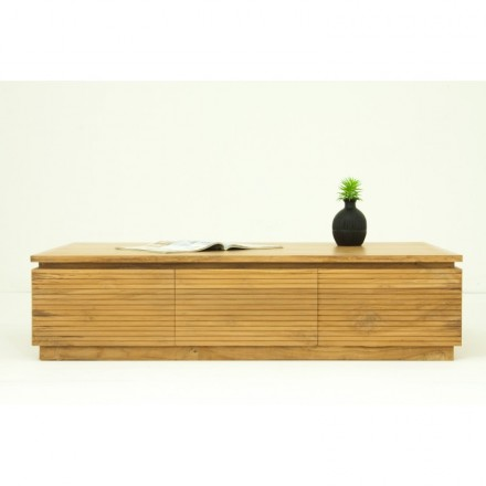 Table 120 cm ALISA (natural) massive teak low contemporary