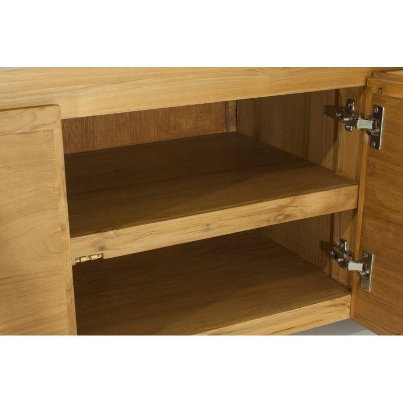 TV low contemporary 3 doors ANATOLY (natural) massive teak furniture - image 36153