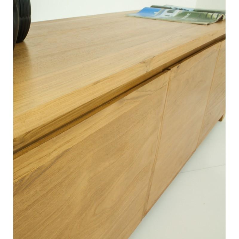 TV low contemporary 3 doors ANATOLY (natural) massive teak furniture - image 36154