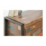 Buffet enfilade 2 portes 3 tiroirs industriel 140 cm NOAH en teck massif recyclé et métal
