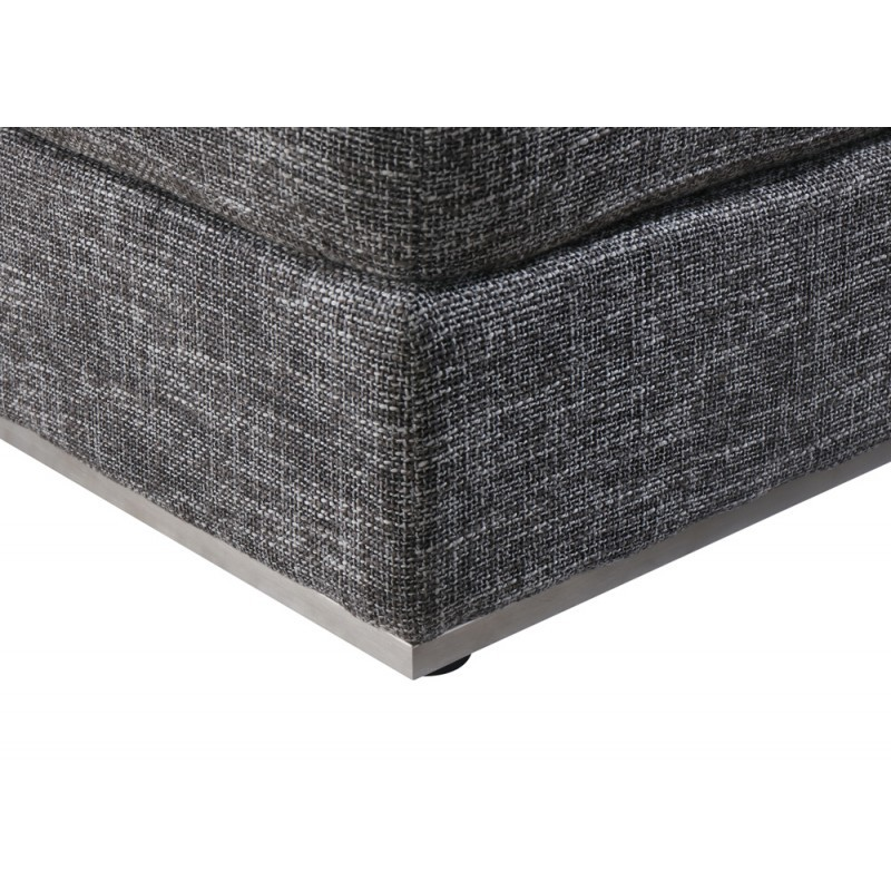 pouf design agata en tissu gris anthracite chin. Black Bedroom Furniture Sets. Home Design Ideas