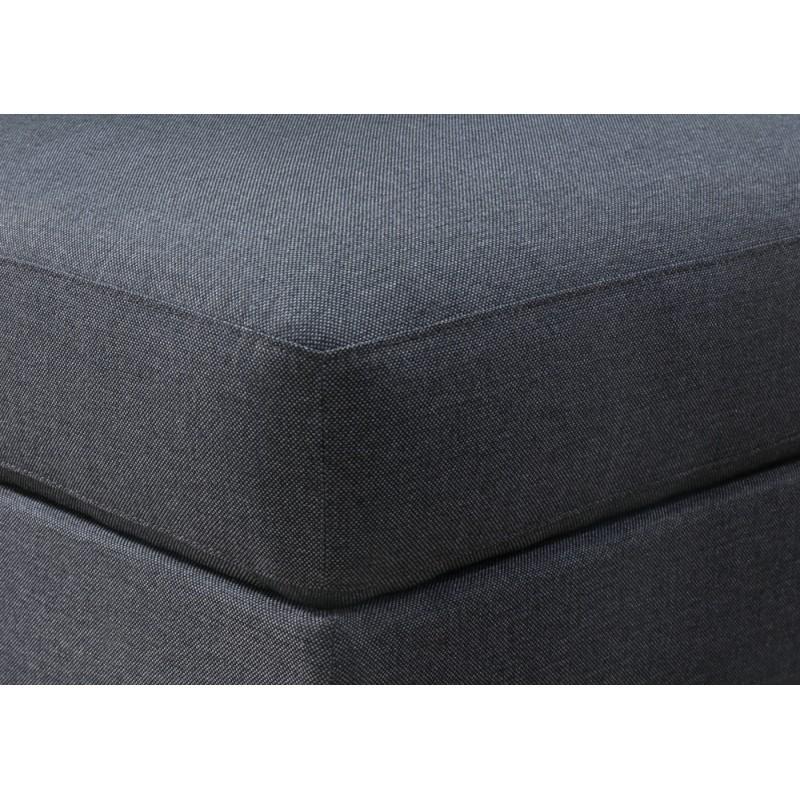 Puf de diseño tela AGATA (gris oscuro) - image 36335