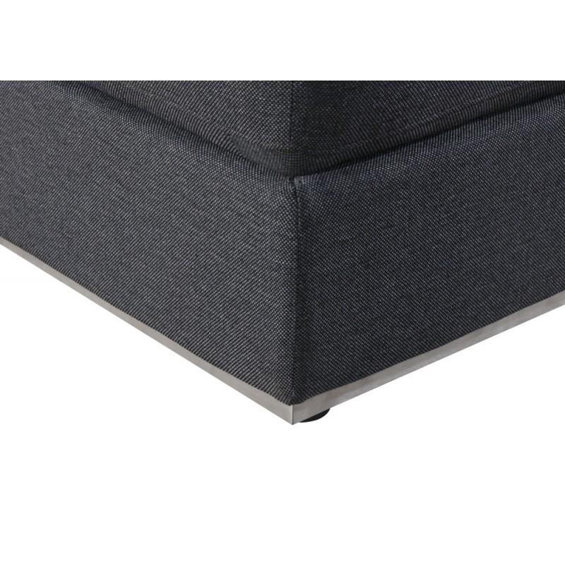 Puf de diseño tela AGATA (gris oscuro) - image 36336