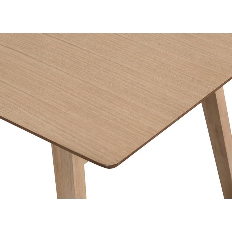 Zeitgenössische LEANA Esstisch aus Holz und Metall (180X90X75cm) (Eiche hell) - image 36340