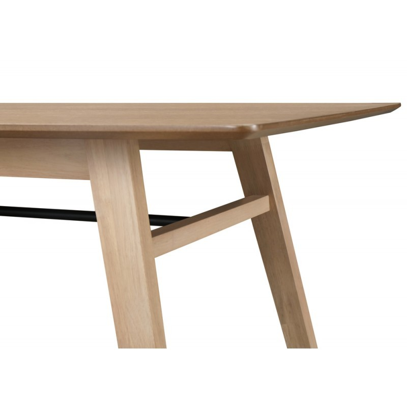 Dining table contemporary LEANA in wood and metal (180X90X75cm) (light oak) - image 36341