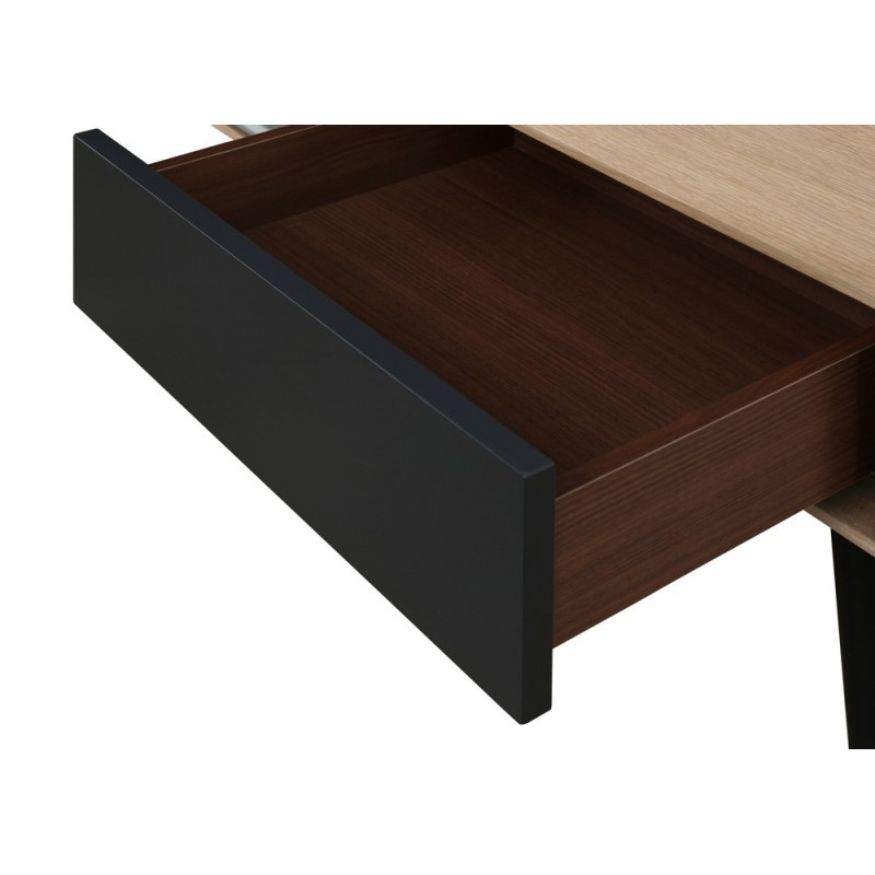 table d 39 appoint bout de canap design 1 tiroir adamo en bois ch ne clair. Black Bedroom Furniture Sets. Home Design Ideas