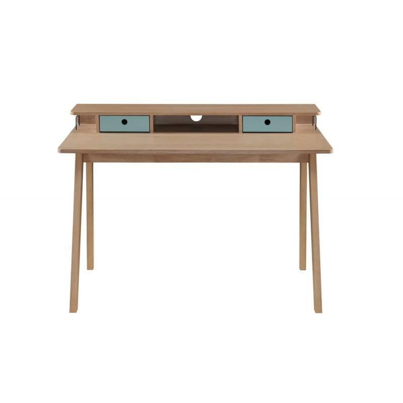 Skandinavisches Designbüro FLAVIE aus Holz (Eiche klar, blau)