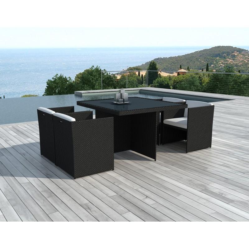 table manger et 4 fauteuils de jardin encastrable kribou. Black Bedroom Furniture Sets. Home Design Ideas