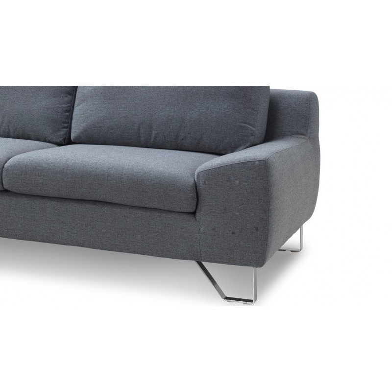 Corner sofa design left 3 places with VLADIMIR chaise in fabric (grey) - image 36455