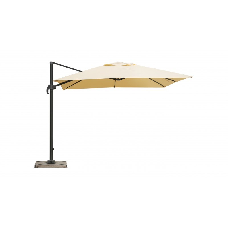 Parasol deported square with ventilation 2.5 m x 2.5 m NIKA (beige) - image 36517