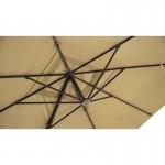 Parasol déporté carré avec ventilation 2,5 m x 2,5 m NIKA (beige)