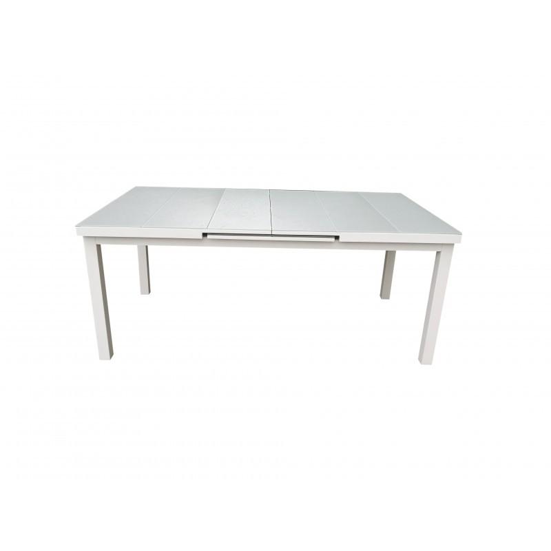 Tavolo espandibile 10-12 persone MITRON alluminio (bianco) - image 36542