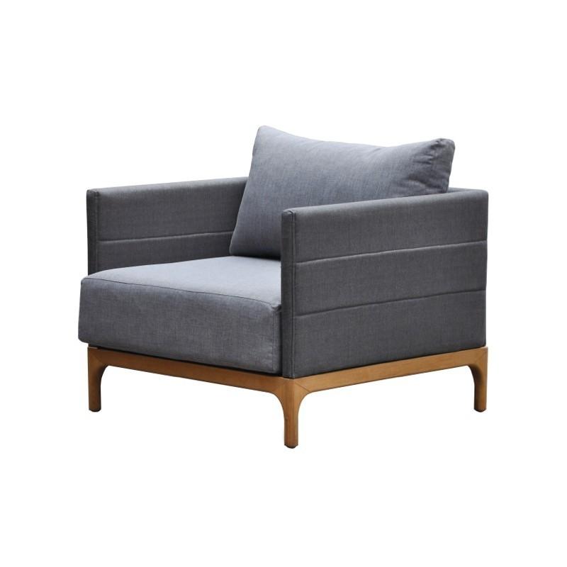 Gartenmöbel 6 Sitzer CASIMIR Teak (Anthrazit) - Gartenmöbel