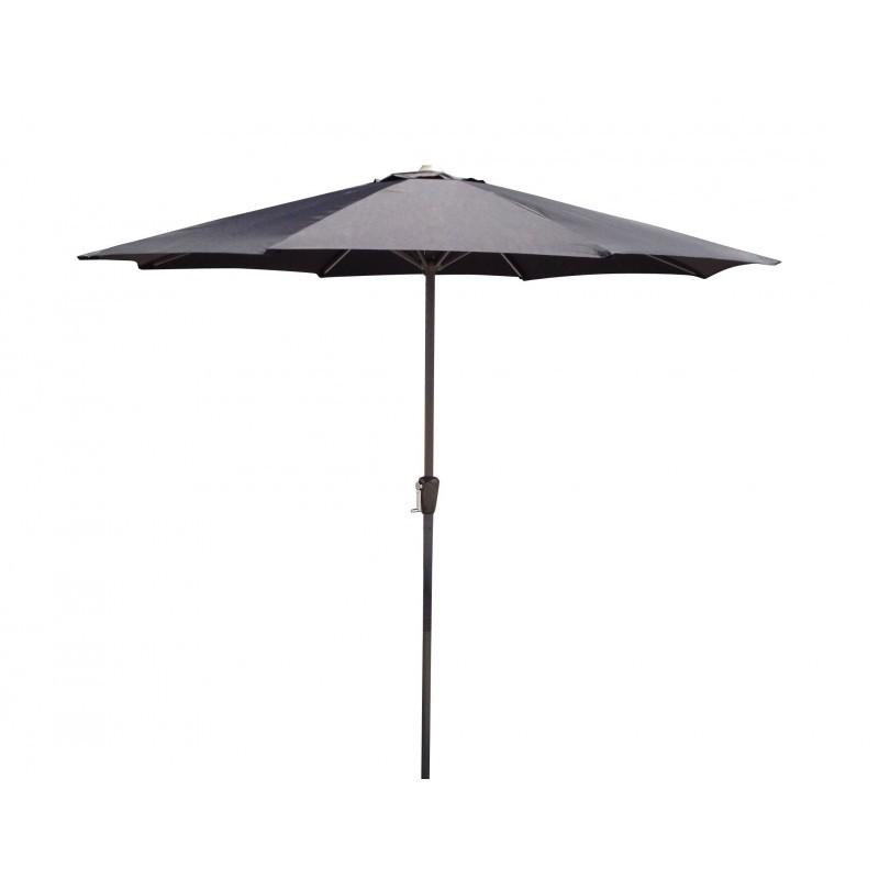 Gerader Regenschirm mit Belüftung MANJA (schwarz)