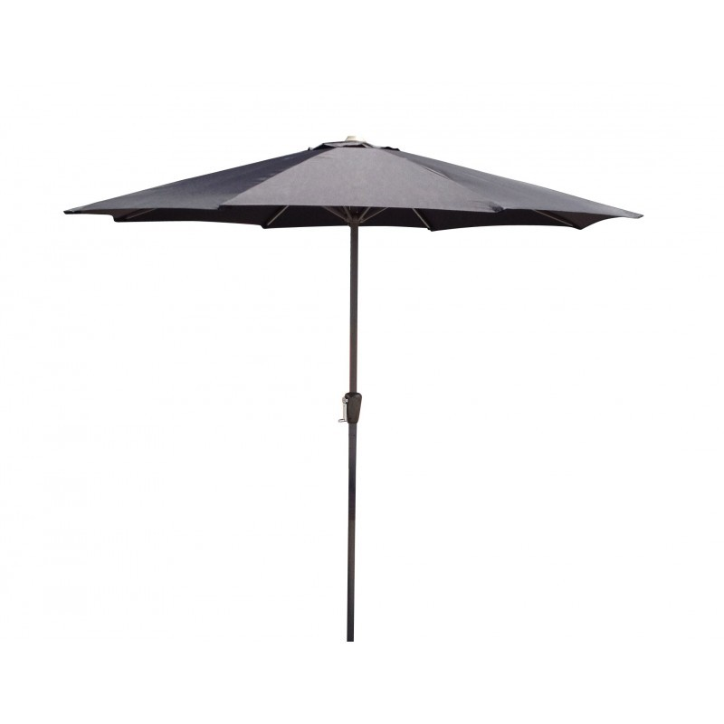 Straight umbrella with ventilation MANYA (black)