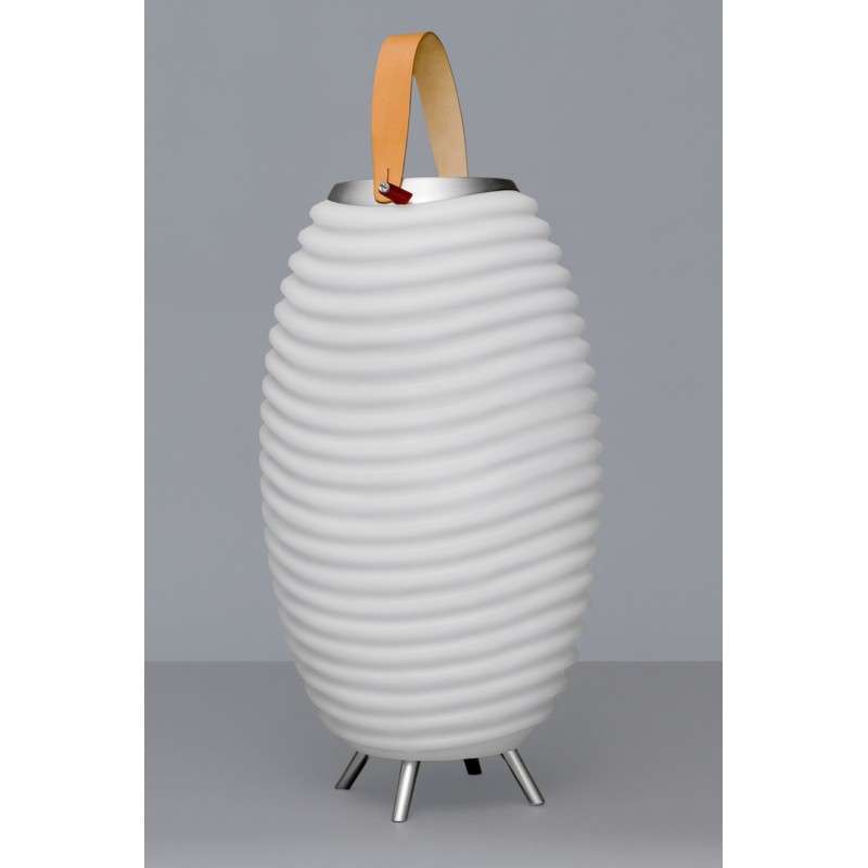 Lampe LED seau à champagne haut-parleur enceinte bluetooth KOODUU SYNERGIE S 35 (blanc) - image 36623
