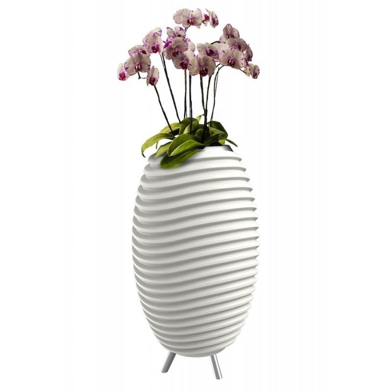 Lampe LED seau à champagne haut-parleur enceinte bluetooth KOODUU SYNERGIE S 35 (blanc) - image 36627
