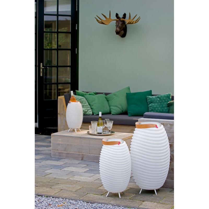 Lampe LED seau à champagne haut-parleur enceinte bluetooth KOODUU SYNERGIE S 35 (blanc) - image 36628