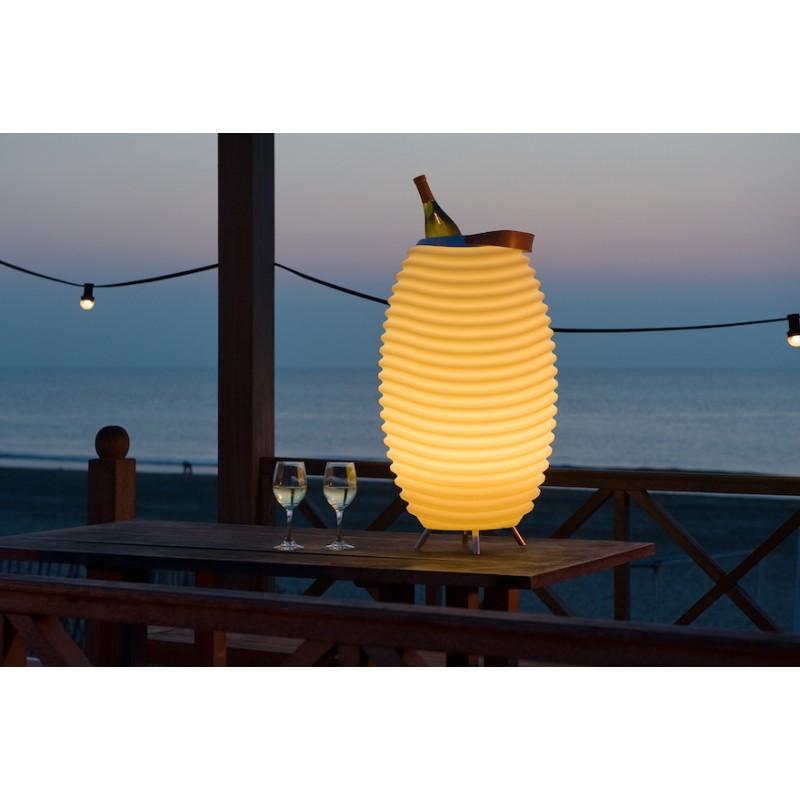 Lampe LED seau à champagne haut-parleur enceinte bluetooth KOODUU SYNERGIE S 35 (blanc) - image 36630