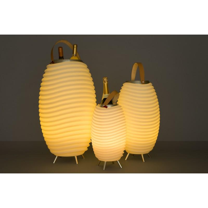 Lampe LED seau à champagne haut-parleur enceinte bluetooth KOODUU SYNERGIE 50 (blanc) - image 36641