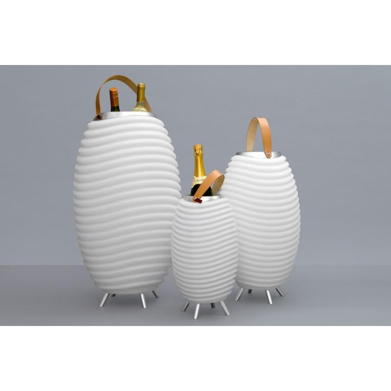 Lampe LED seau à champagne haut-parleur enceinte bluetooth KOODUU SYNERGIE S 65 (blanc) - image 36644