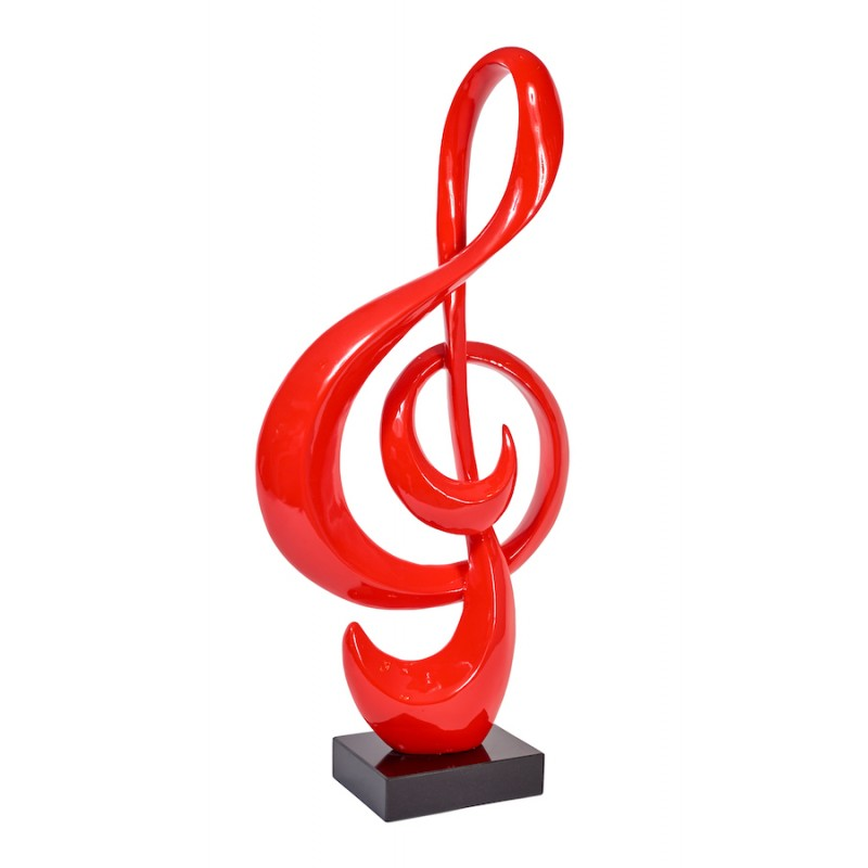 Statue sculpture decorative design key of ground resin (red) - image 36701