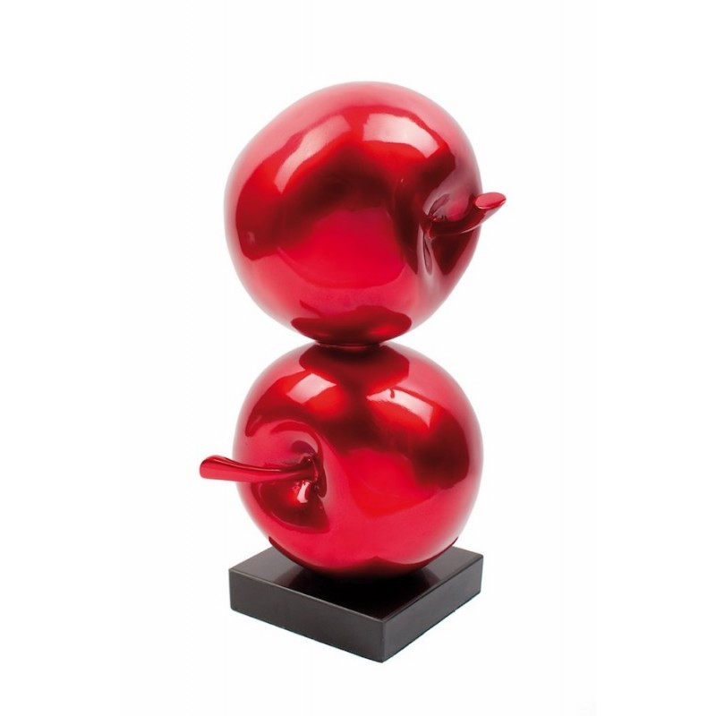 Statue sculpture decorative design Apple DOUBLE resin (red) - image 36703