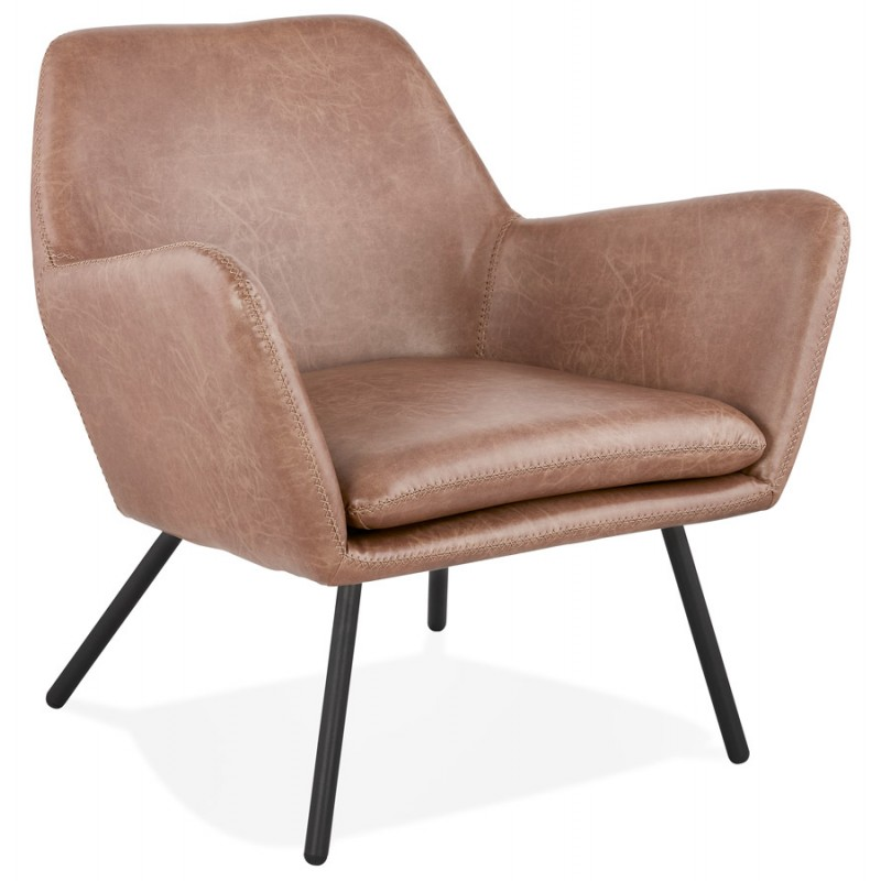Retro Design Fauteuil.Lounge Chair Design And Retro Hiro Brown