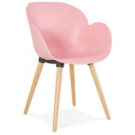 Diseño de polipropileno de silla estilo escandinavo LENA (polvo rosado)