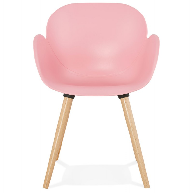 Design Stuhl Stil skandinavischen LENA Polypropylen (rosa Pulver) - image 36756