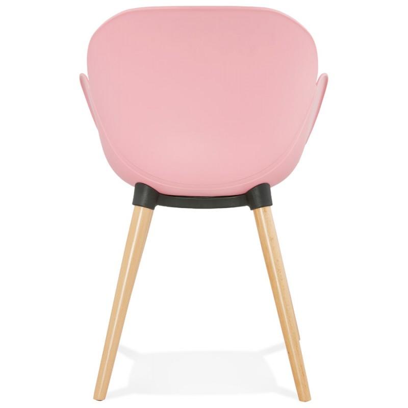 Design Stuhl Stil skandinavischen LENA Polypropylen (rosa Pulver) - image 36759