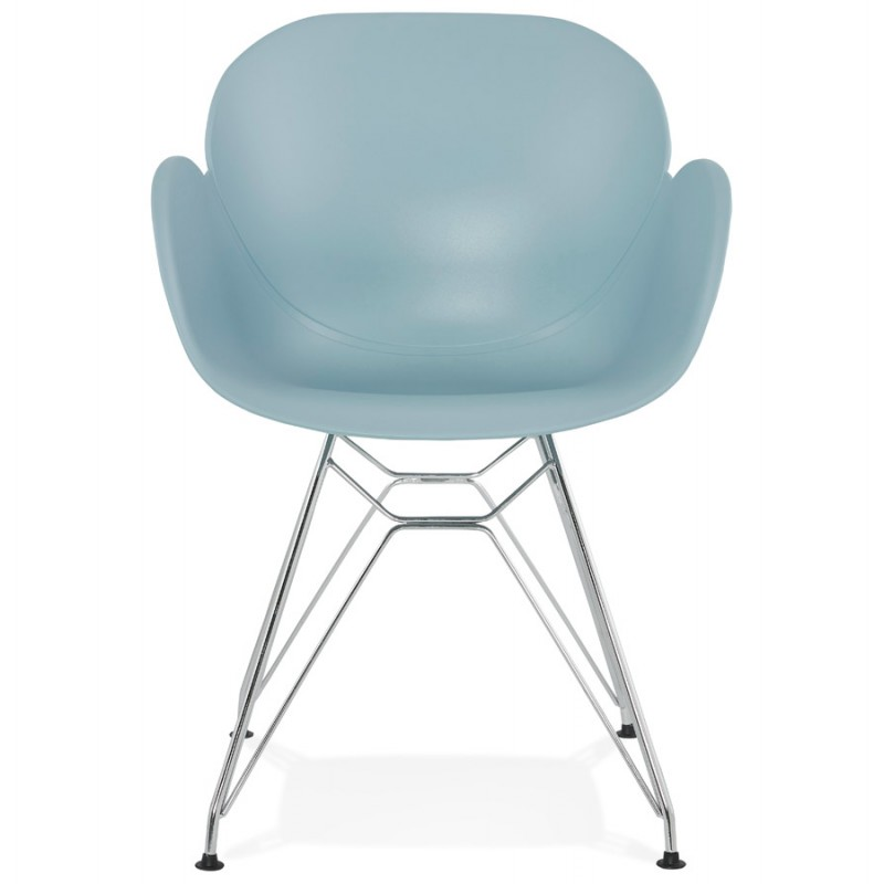 Design chair industrial style TOM foot chromed metal polypropylene (sky blue) - image 36769